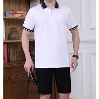 verhouse 运动套装男夏季新款短袖翻领上衣休闲裤中老年人两件套