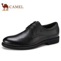 camel 骆驼男鞋 秋季新品低帮真皮系带商务正装轻盈舒适皮鞋男