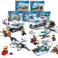 万格乐博士积木 城市警察警车系列 小颗粒儿童玩具新