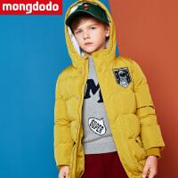 巴拉巴拉旗下儿童羽绒服男童中长款冬装2018新款中大童加厚外套潮