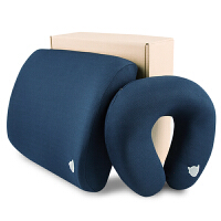 阿童木记忆棉汽车颈枕腰靠套装 车用腰枕靠垫 U形枕腰垫靠背