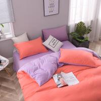 北欧超柔床上用品磨毛四件套素色家纺被套纯色三件套 被套200X230 床单230X230 枕套47