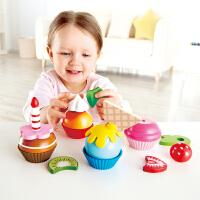 Hape儿童过家家玩具厨房玩具―缤纷纸杯蛋糕套 3岁+