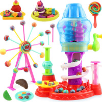 彩泥糖果机橡皮泥模具工具套装儿童益智玩具像皮泥手工泥