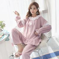 珊瑚绒睡衣女冬季韩版秋季甜美可爱公主风家居服法兰绒加厚保暖