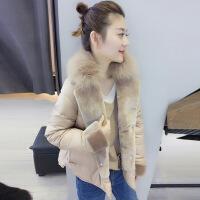 欧洲站冬装女2018新款欧货潮小个子羽绒服短款冬季轻薄大毛领