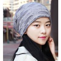 时尚加绒保暖防风护耳朵帽 包头帽套头光头孕妇帽 男女通用头巾帽情侣帽