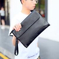 男士手包韩版男包手拿包 时尚手包 商务休闲信封包男 手抓包潮男包 黑色