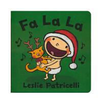 Fa La La 小毛孩系列圣诞节 脏小弟一根毛 名家Leslie Patricell 儿童启蒙绘本 亲子互动纸板书