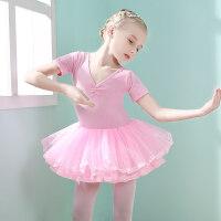 儿童舞蹈服夏季女童练功服新款小女孩芭蕾舞裙演出服装幼儿跳舞裙