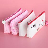 HelloKitty笔袋创意文具盒铅笔盒透明大容量笔袋韩国简约女生笔袋