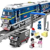 电动火车积木拼装玩具系列益智轨道�犯咝】帕8咛�成年立体大模型