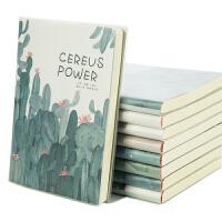 A4笔记本子胶套记事本韩国小清新文具创意简约大学生B5日记本加厚