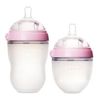 美国本土comotomo可么多么奶瓶 粉色250ml+150ml混合装(海外购)
