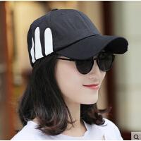 遮阳帽 帽子女 男士棒球帽鸭舌帽休闲百搭韩版潮情侣白色