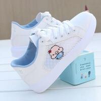 夏季帆布鞋女学生韩版鞋子女学生平底低帮布鞋透气休闲鞋女百搭