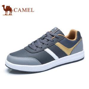camel骆驼男鞋    新品时尚休闲拼色低帮系带鞋   滑板鞋男