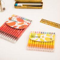 韩国文具儿童 宝宝画笔油画棒 旋转蜡笔玩具棒棒彩