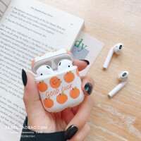 夏日小橘子AirPods苹果蓝牙耳机保护套防摔个性创意女款日韩新款 GOOD LUCK橘子 蓝牙耳机套