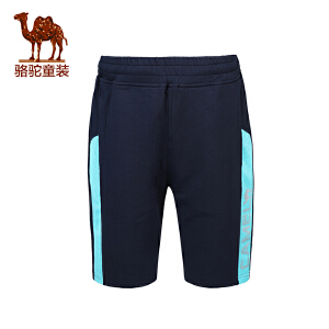 骆驼春夏男童五分裤儿童青少年中腰休闲裤透气沙滩裤