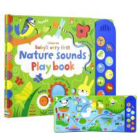 Usborne Nature Sounds Playbook 触摸纸板发声书 自然的声音 英语启蒙认知书 0~3岁 宝