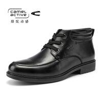 Camel Active/骆驼动感男士商务休闲皮鞋皮靴真皮系带男鞋棉靴鞋