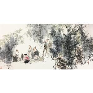 王明明《竹林七贤》著名画家