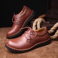 新款男靴男鞋休闲大头鞋子男皮鞋韩版低帮马丁靴英伦潮鞋手工复古工装鞋