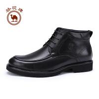 骆驼牌男靴 冬季商务休闲男士高帮皮靴舒适保暖皮靴男