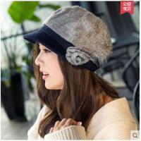 帽子女秋冬韩版潮贝雷帽时尚军帽八角帽英伦风时装帽休闲鸭舌帽女