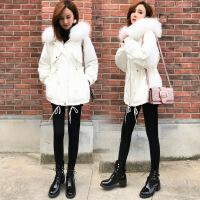 冬季外套女加厚保暖棉衣韩版宽松毛领中长款2018新款羽绒外套