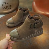 儿童冬季宝宝女童棉公主男女孩短儿童马丁靴
