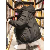 [2.5折价299元]唐狮羽绒服男短款冬季新款韩版潮流帅气加厚学生连帽工装外套
