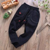 中大童男童加绒运动裤秋冬季儿童装休闲裤