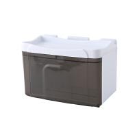 厕所纸巾盒免打孔 卷纸筒卫生间收纳架壁挂式防水卫生纸抽纸盒抖音同款