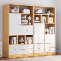 【一件3折】书架简约现代格子柜简易桌上落地置物架学生用卧室小书架