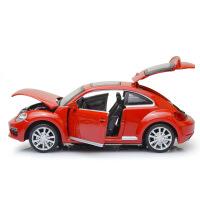 彩盒装大众汽车新甲壳虫街车版回力声光合金车模型儿童玩具车