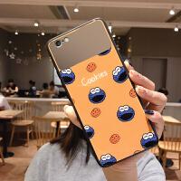 iPhone XS Max手机壳XR玻璃苹果7/8 plus女6splus i6/6s 黄底芝麻街(镜面)