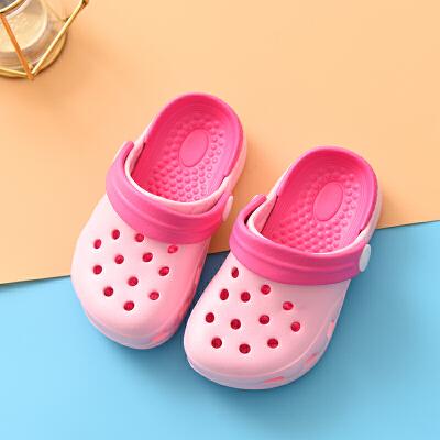夏季新品儿童拖鞋宝宝洞洞鞋浴室洗澡防滑软底凉拖鞋2男女童卡通凉鞋女1-3岁男童婴幼儿户外旅行沙滩鞋