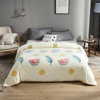 珊瑚绒毯子薄款单人夏季小毛毯被子夏天法兰绒空调毯午睡毯 轻柔裸睡 可盖可垫180cmx200cm 已质检