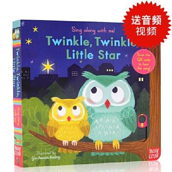 【现货】英文原版Sing Along with Me Twinkle Twinkle Little Star 欢唱童谣机关操作书玩具纸板书 幼儿启蒙读本 欧美经典儿歌一闪一闪亮晶晶