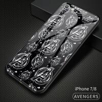 漫威新品苹果8plus手机壳iphone7plus玻璃保护套苹果7钢铁侠iphone8美国队长蜘
