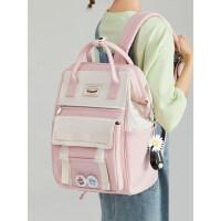 初中生小学生书包女韩版高中大容量出走双肩包小清新时尚旅行背包