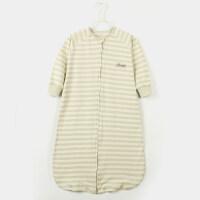 踏踏猴 婴儿睡袋春秋蘑菇纯棉宝宝春夏季薄款新生儿分腿儿童睡袋 80码衣长70厘米(参考身高60-80厘米 0-1