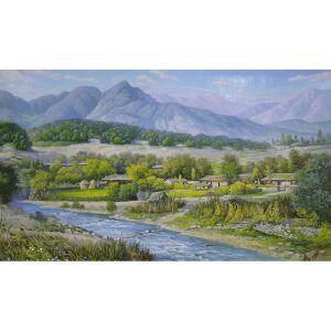 朝鲜油画 一级画家 崔河泽《美不胜收》【大千艺术品】