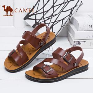 骆驼牌 男凉鞋 新品日常时尚沙滩鞋男士休闲露趾凉鞋