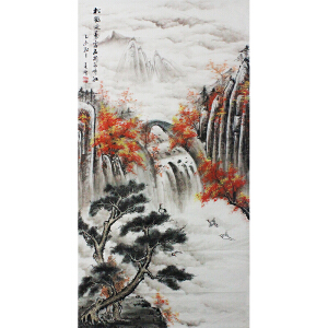 活画泰斗 国礼艺术家吴增 松鹤延寿  夜显财神