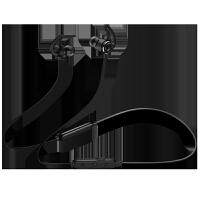 无线运动蓝牙耳机跑步双耳耳塞式挂耳入耳颈挂脖式头戴式重低音炮手机苹果男女通用迷你超小隐形 黑色 标配