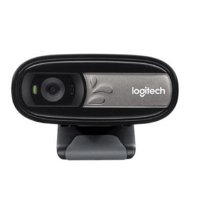 罗技(Logitech)C170 网络摄像头 黑色 软件支持下500万像素,自带话筒!