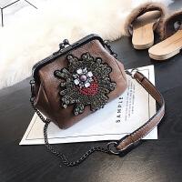 小包包女2018新款韩版复古贝壳火包斜跨包链条单肩斜挎女包